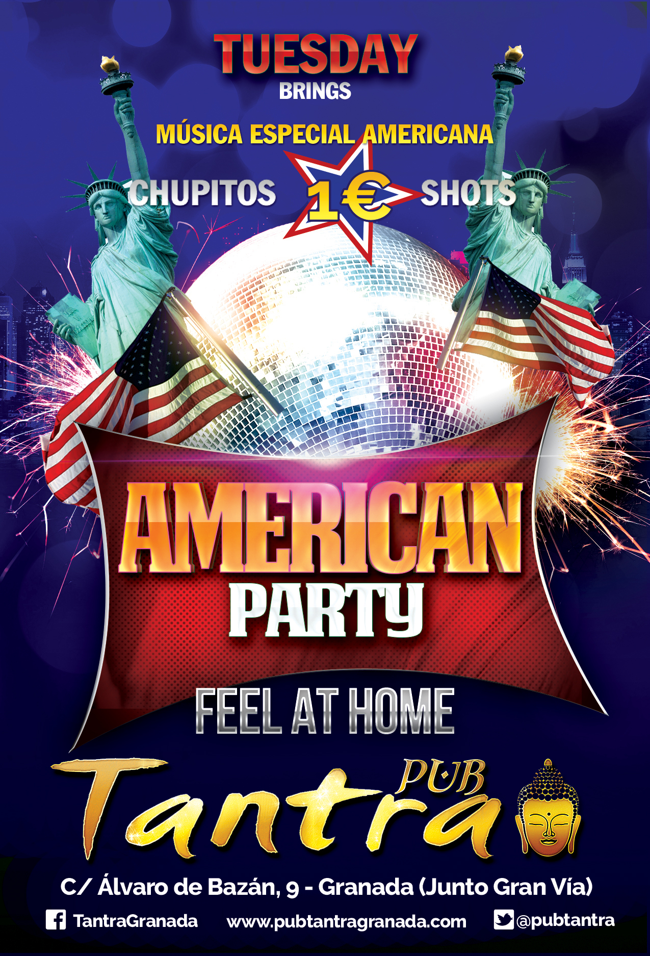 Tuesday American Party (October)- Tantra Granada